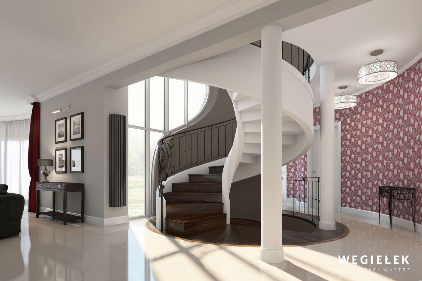 02 dom w wilanowie schody kręcone