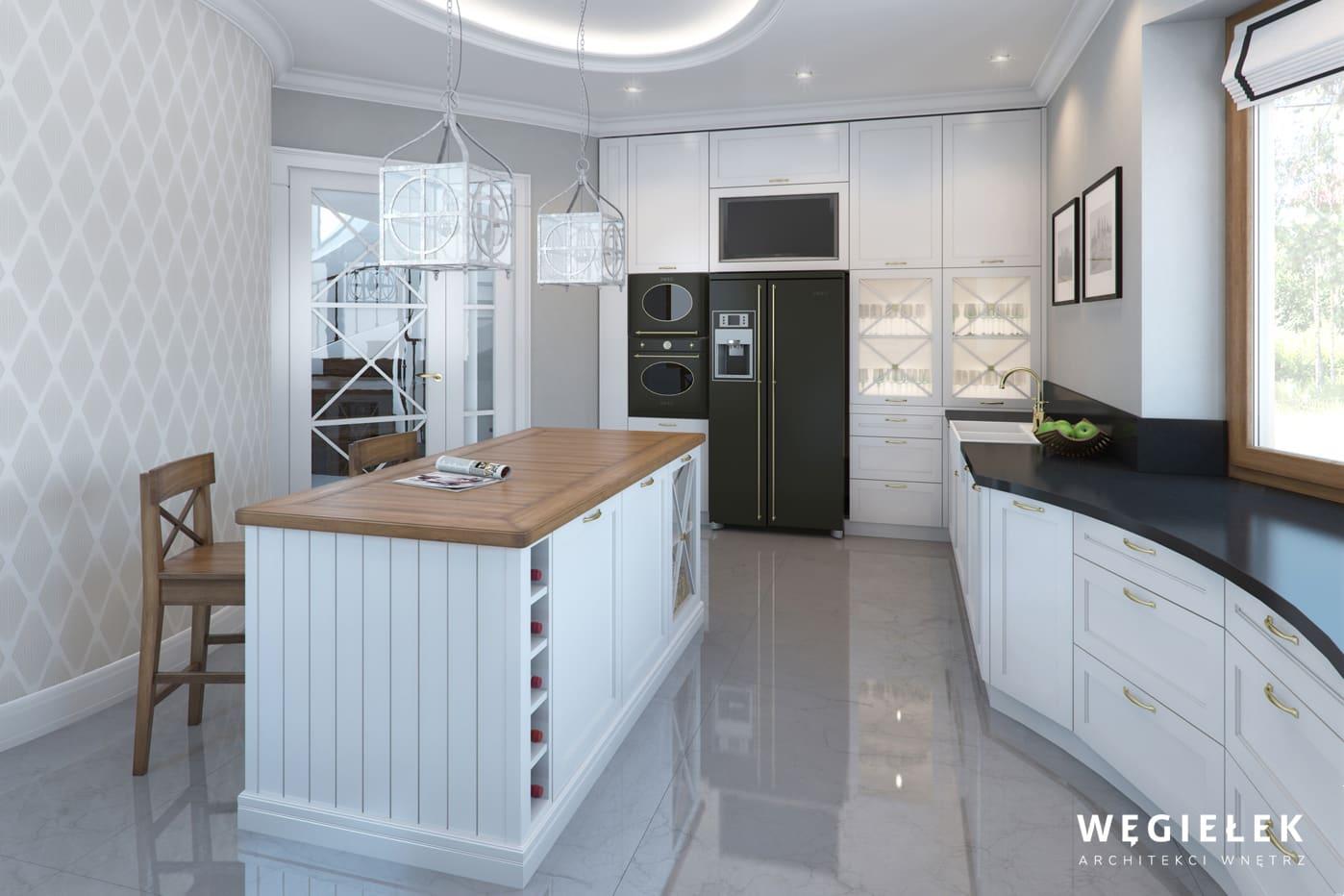 04 dom w wilanowie kuchnia klasyczna wyspa