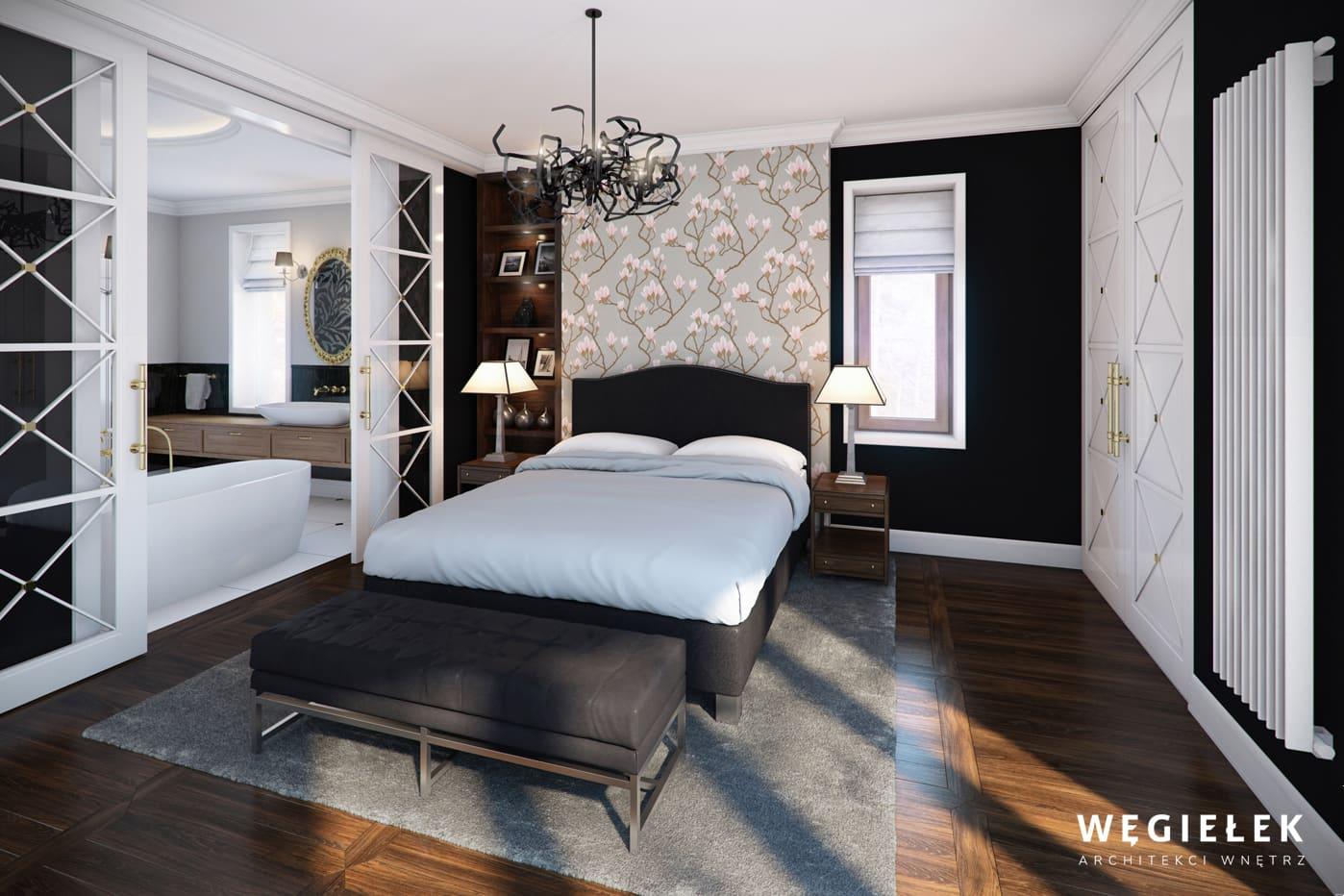 05 dom w wilanowie sypialnia z lazienka