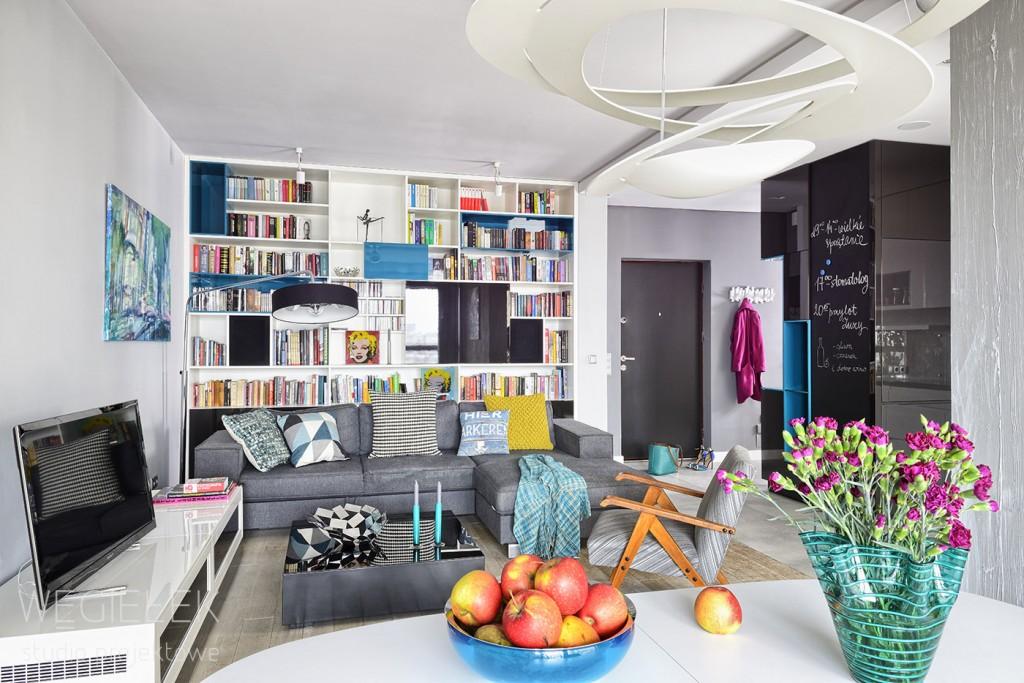 01 apartament salon turkusowy