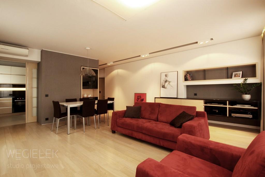 02 apartament salon z kuchnia