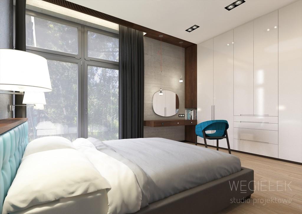 04 sypialnia z szafa na ubrania i toaletka