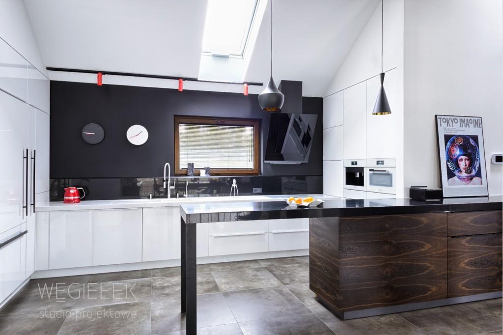 05 bialo czarna kuchnia nowoczesna